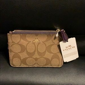 NEW Authentic COACH Key Pouch with Gusset